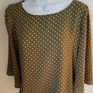 Olive, polyester Polka dot blouse